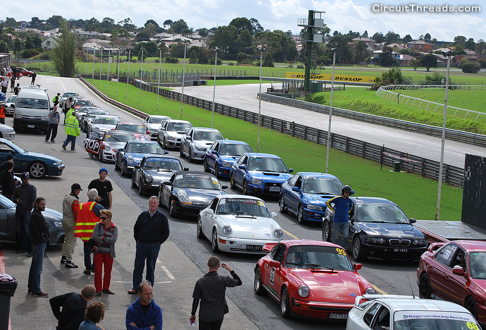 Sandown Pitlane