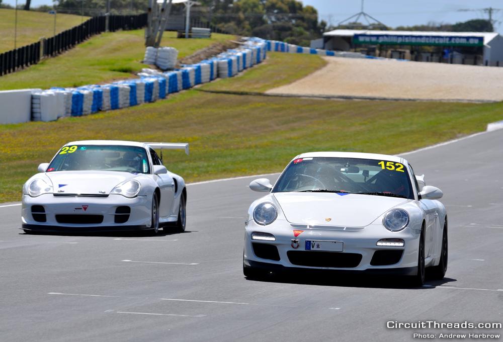 WRX Club Phillip Island Porsche 996 vs 997