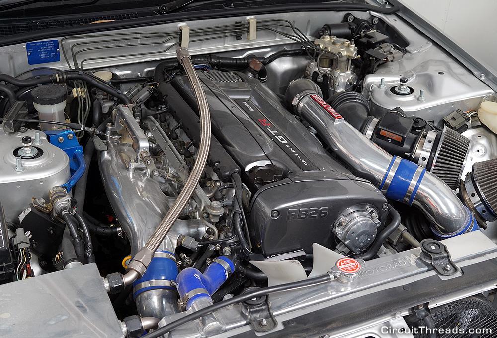 SAU Racepace Nissan R32 GTR Silver Engine
