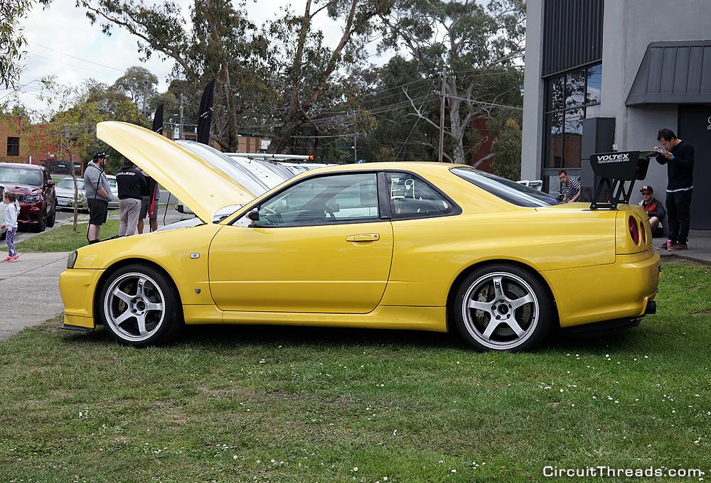 SAU Racepace Nissan R34 Yellow GTR